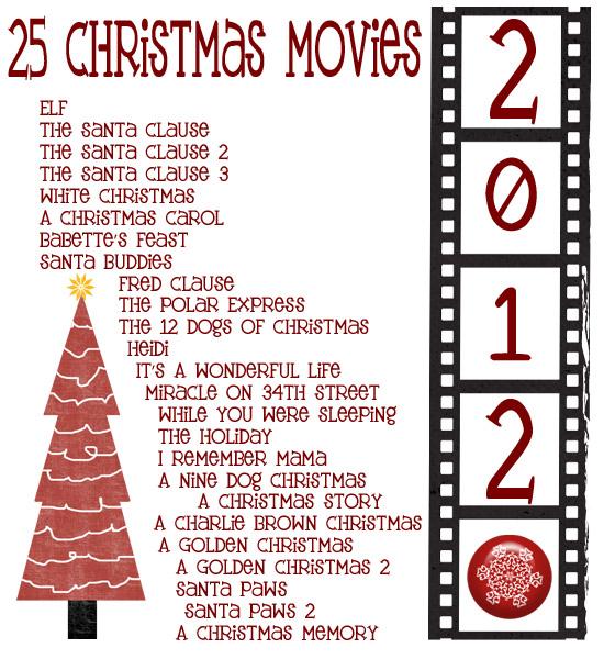 2012 Christmas Movies