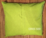 dog bed canvas base lime green 26x23