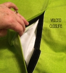 dog bed velcro closure lime green
