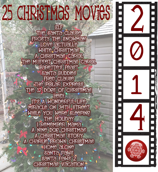 christmas movie list - Christmas Lists 2014