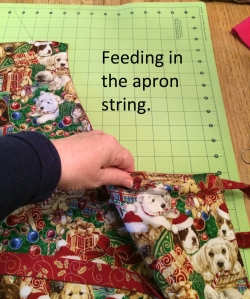 feeding apron string