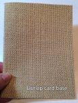Burlap card base