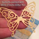 Butterfly painted with WS Glitter Pen