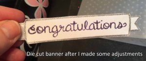 Die cut banner