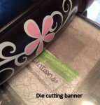 Die cutting banner