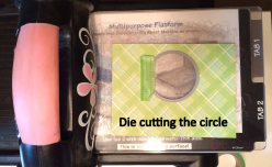 Die cutting the circle