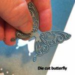 Diecut butterfly