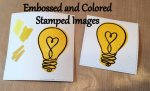 Embossed and colored stamped images