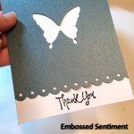 Embossed Sentiment