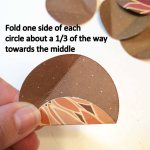 Fold one side of each circle