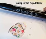 Inking the cup details