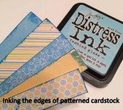Inking the edges of patterned cardstock