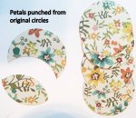 Petals punched from original circles