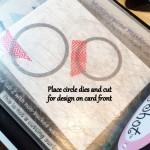 Place circle dies