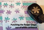 Punching flower shape out of cardstock