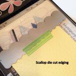Scallop die cut edging