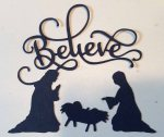Silhouette die cut nativity