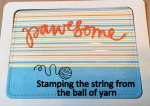 Stamping the string