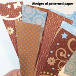 Wedges of patterned paper