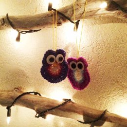 Day 1 Crochet Owls on Wall Tree