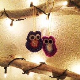 Day 1 Crochet Owls on Wall Tree