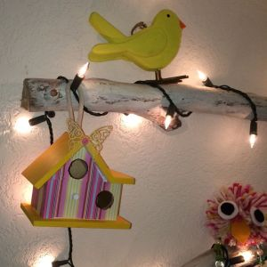 Day 15 Bird House on Wall Tree2
